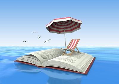 Lire et jouer à la plage |